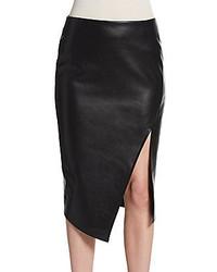 Romeo & Juliet Couture Faux Leather Slit Pencil Skirt