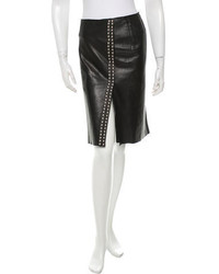 Dolce & Gabbana Studded Leather Skirt