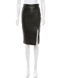 Alexander McQueen Studded Leather Skirt