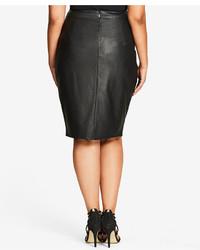 82b95bd7682dc ... City Chic Trendy Plus Size Faux Leather Pencil Skirt
