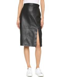Ty lr the com leather skirt medium 417310
