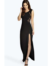 Black Slit Maxi Dress
