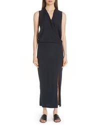 Zero Maria Cornejo Blouson Stretch Silk Dress