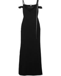 Loewe Cold Shoulder Med Crepe Maxi Dress