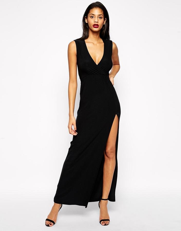 9f02d7ffe06 Asos Collection Sleeveless Wrap Maxi Dress, $55   Asos   Lookastic.com