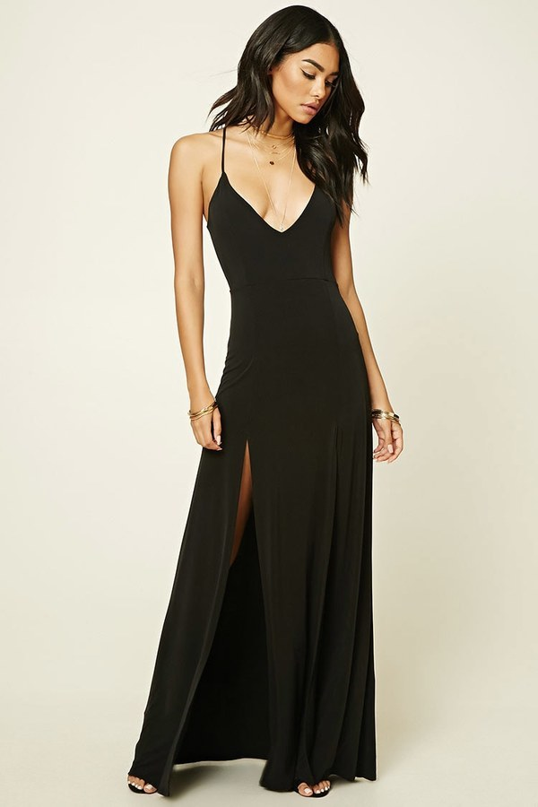 Forever 21 M Slit Halter Maxi Dress Where To Buy How To Wear