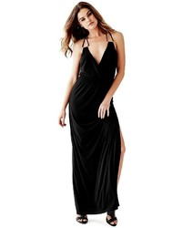 Vestido largo negro guess