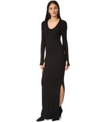 L'Agence Olympia Slit Maxi Dress