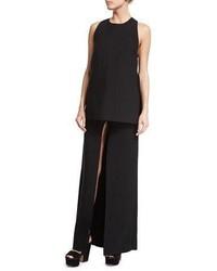 Costume national front slit maxi skirt black medium 6368351
