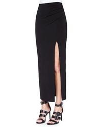 Gathered high slit maxi skirt medium 370978