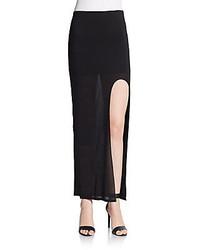 Helmut Lang Kinetic Jersey Knit Maxi Skirt