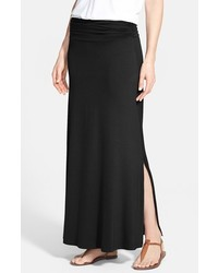 Ruched waist side slit maxi skirt medium 3753501