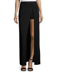 Slayer jersey slit maxi skirt black medium 6368350