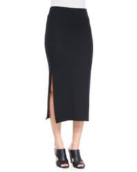 Atm Side Slit Knit Tube Skirt