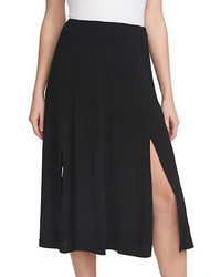 1 STATE Double Slit Midi Skirt