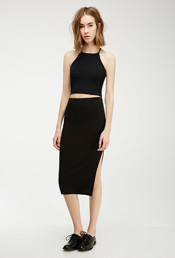 Forever 21 Slit Midi Skirt | Where to buy & how to wear