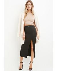 Forever 21 Slit Front Midi Skirt