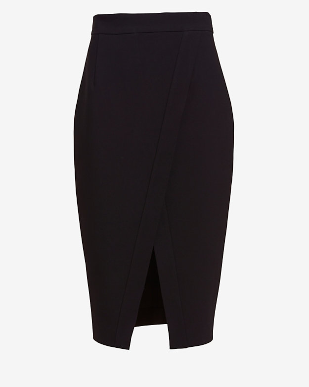 Nicholas Crossover Hem Pencil Skirt | Where to buy & how to wear