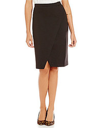 M.S.S.P. Double Knit High Slit Pull On Pencil Skirt