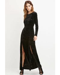 Contemporary crushed velvet maxi dress medium 1128541