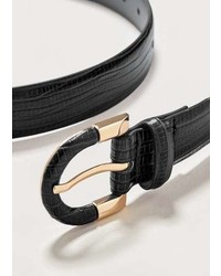 Violeta BY MANGO Snake Effect Belt