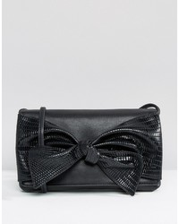 Asos Bow Snake Cross Body Bag