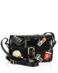 Marc Jacobs Embroidered Python Shoulder Bag