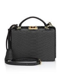 MARK CROSS Grace Small Python Box Crossbody Bag
