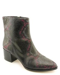 Brian Atwood Gioia Black Snakeskin Leather Fashion Ankle Boots