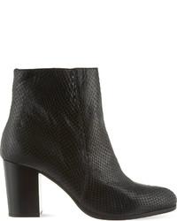 Carvela Sherbert Snake Embossed Ankle Boots