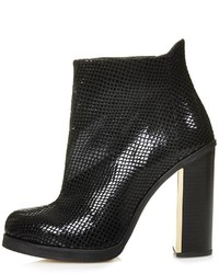 Topshop Haunt Snake Effect Ankle Boots