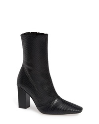 Topshop Henna Snake Embossed Leather Bootie