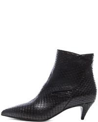 Saint Laurent Python Effect Cat Boots