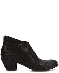 Snakeskin effect ankle boots medium 795808