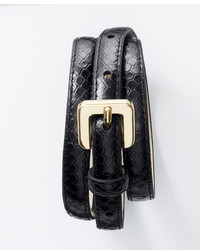 Ann Taylor Exotic Embossed Leather Skinny Belt