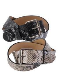 Journee Collection Python Print Casual Belt