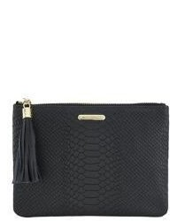 GiGi New York All In One Python Embossed Leather Clutch