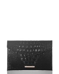 Melbourne croc embossed leather envelope clutch medium 8685667
