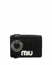 My miu small matelasse snake trim clutch bag medium 4471610