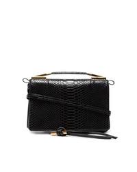 Stella McCartney Black Small Snake Embossed Shoulder Bag