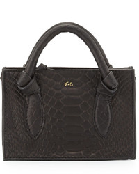 Foley + Corinna Gigi Snake Embossed Leather Petite Crossbody Bag Black