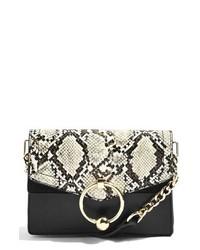 Topshop Selina Snake Effect Crossbody Bag