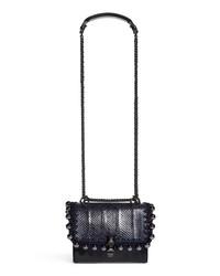 Fendi Small Kan I Genuine Snakeskin Leather Beaded Shoulder Bag
