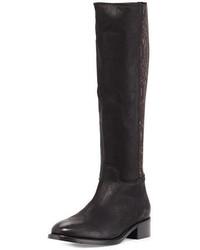 Alaina snake print knee boot black medium 676266