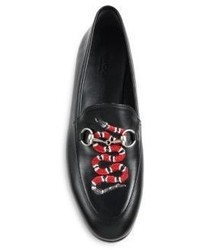 b9c18a6c6f7 ... Gucci Brixton Snake Leather Loafers