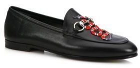 47a522d3070 ... Gucci Brixton Snake Leather Loafers ...