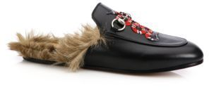 11d42022322 ... Gucci Princetown Fur Lined Snake Leather Slippers ...