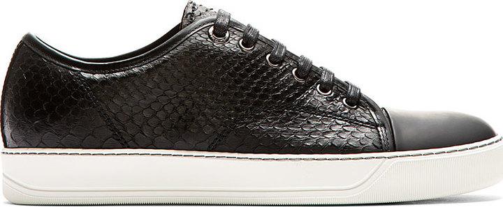 Lanvin Black Python Leather Classic