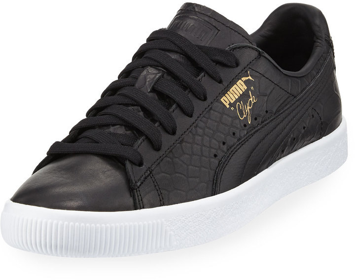 ... Sneakers Puma Clyde Snake Embossed Sneaker Black ...