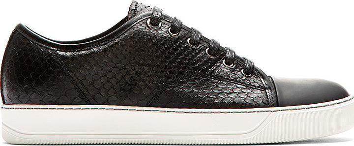 Black Leather Sneakers Lanvin